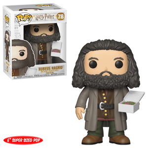 Funko Pop! Movies - Harry Potter #78 - Rubeus Hagrid (with Cake) (6 inch) - Simply Toys