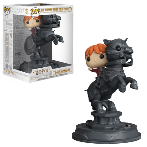 Funko Pop! Movie Moments - Harry Potter - Ron Weasley (Riding Chess Piece) - Simply Toys