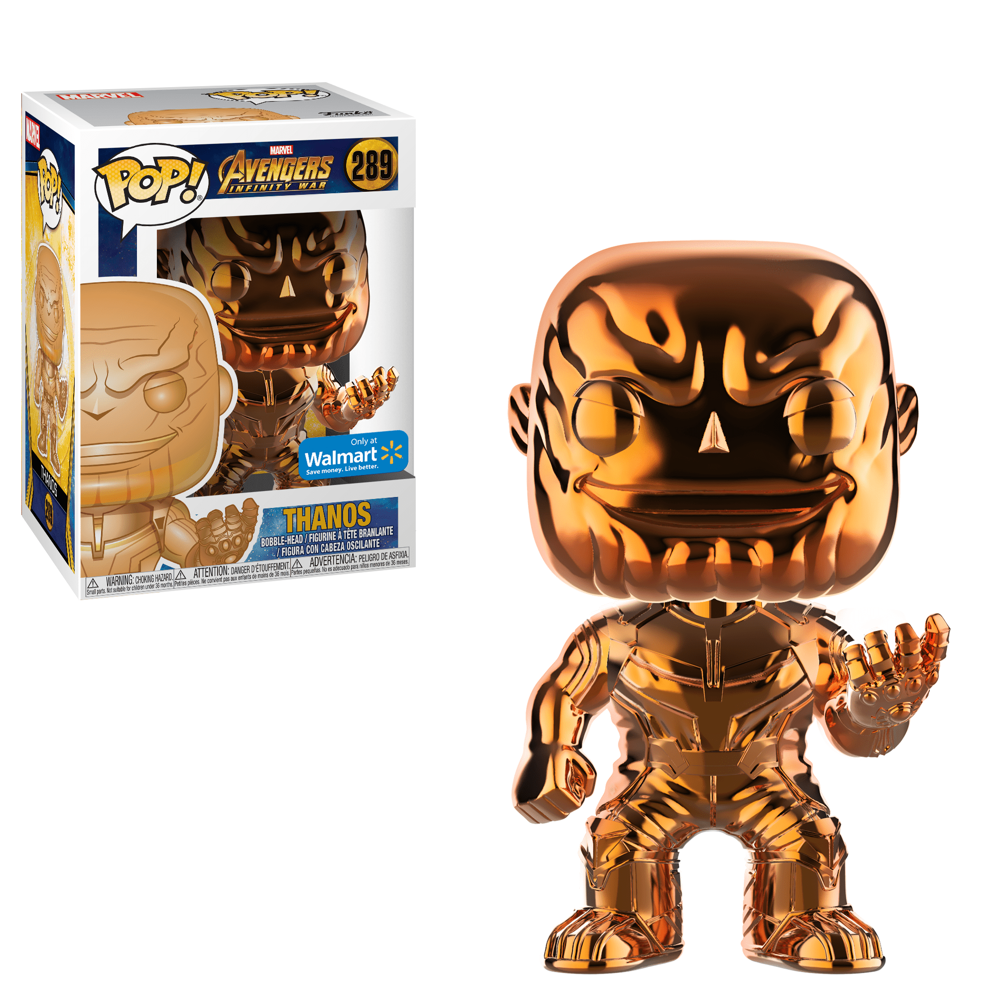 Funko Pop! MARVEL - Avengers: Infinity War #289 - Thanos (Orange Chrome) (Exclusive) - Simply Toys