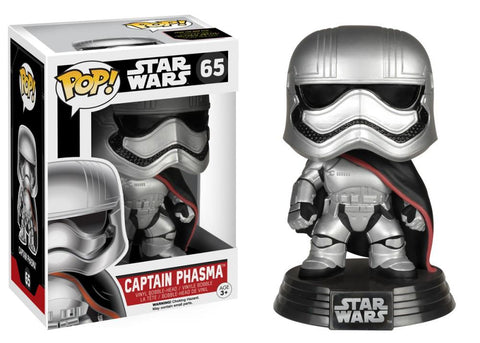 Funko Pop! Movies - Star Wars: Episode VII - The Force Awakens #65 - Captain Phasma - Simply Toys