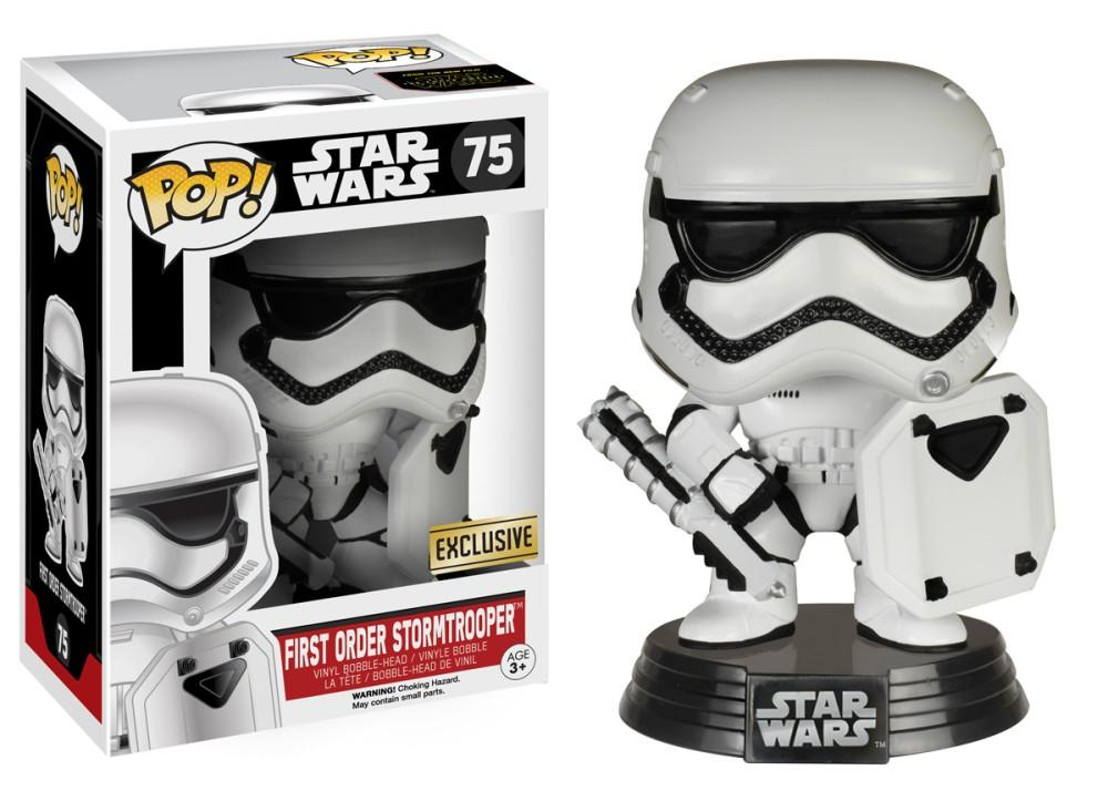Funko Pop! Movies - Star Wars: Episode VII - The Force Awakens #75 - First Order Stormtrooper (Riot Gear) (Exclusive) - Simply Toys
