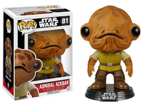 Funko Pop! Movies - Star Wars: Episode VII - The Force Awakens #81 - Admiral Ackbar - Simply Toys
