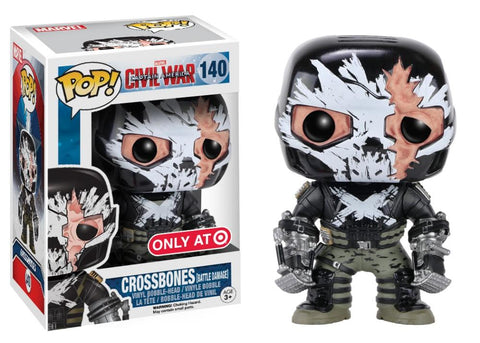 Funko Pop! MARVEL - Captain America: Civil War #140 - Crossbones (with Cracked Mask) (Exclusive) - Simply Toys