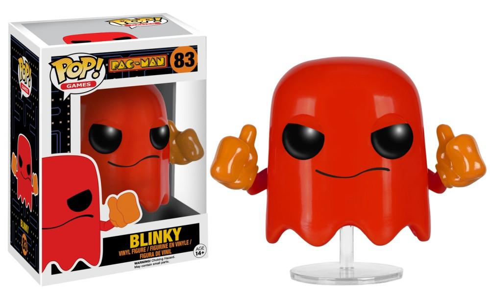 Funko Pop! Games - Pac-Man #83 - Blinky - Simply Toys
