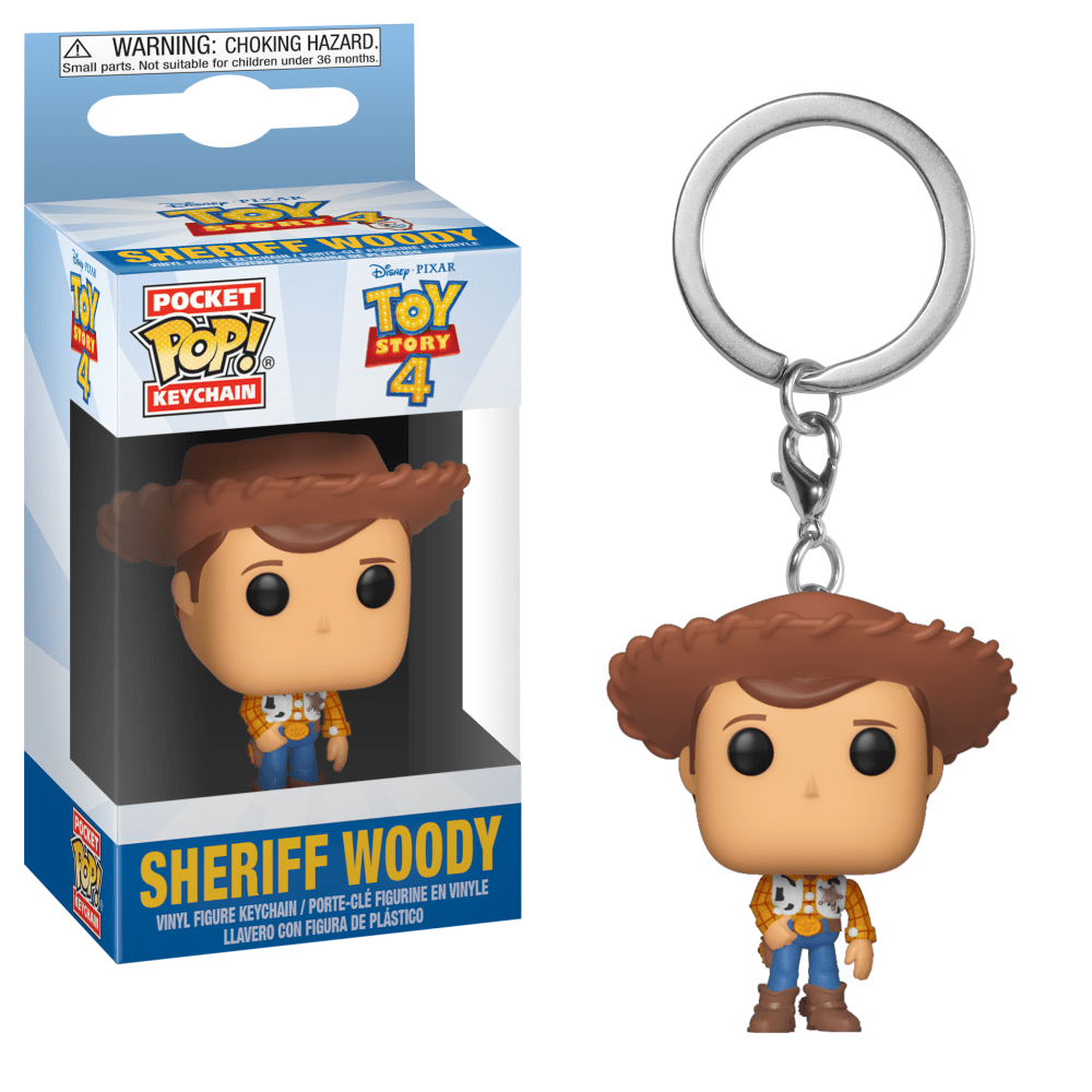 Funko Pop! Keychain - Toy Story 4 - Sheriff Woody - Simply Toys