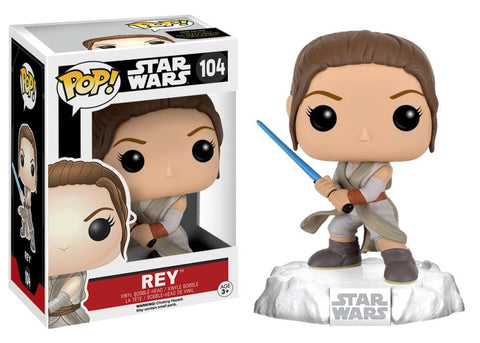 Funko Pop! Movies - Star Wars: Episode VII - The Force Awakens #104 - Rey (with Lightsaber) - Simply Toys