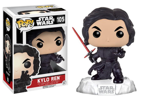 Funko Pop! Movies - Star Wars: Episode VII - The Force Awakens #105 - Kylo Ren (Unmasked) (Action Pose) - Simply Toys