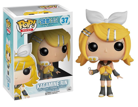 Funko Pop! Rocks - Vocaloid #37 - Kagamine Rin *VAULTED* - Simply Toys