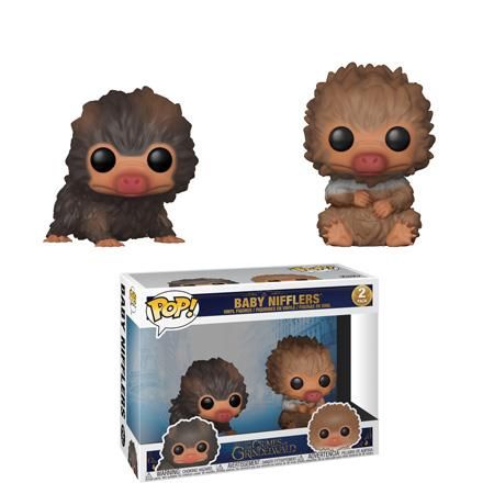 Funko Pop! Movies - Fantastic Beasts: The Crimes of Grindelwald - Baby Nifflers (Brown & Tan) (2 Pack) - Simply Toys