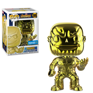 Funko Pop! MARVEL - Avengers: Infinity War #289 - Thanos (Yellow Chrome) (Exclusive) - Simply Toys