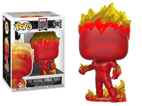 Funko Pop! MARVEL - MARVEL 80 Years #501 - The Original Human Torch (First Appearance) - Simply Toys