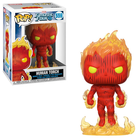 Funko Pop! MARVEL - Fantastic Four #559 - Human Torch - Simply Toys