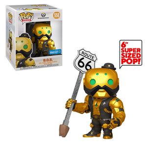Funko Pop! Games - Overwatch #558 - B.O.B. (Metallic) (6 inch) (Exclusive) - Simply Toys