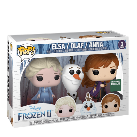 Funko Pop! Movies - Frozen 2 - Elsa, Olaf & Anna (3 Pack) (Exclusive) - Simply Toys