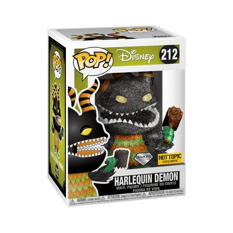 Funko Pop! Movies - The Nightmare Before Christmas #212 - Harlequin Demon (Glitter) (Exclusive) - Simply Toys