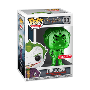 Funko Pop! Heroes - Batman: Arkham Asylum #53 - The Joker (Green Chrome) (Exclusive) - Simply Toys