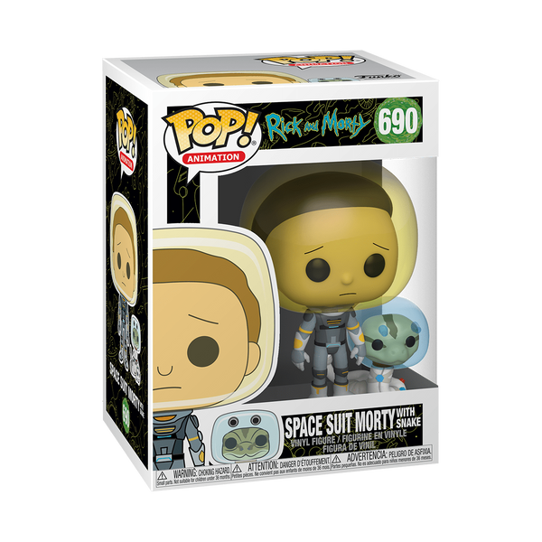 Funko Pop! Animation - Rick and Morty #690 – Morty (Space Suit) (Snake) - Simply Toys
