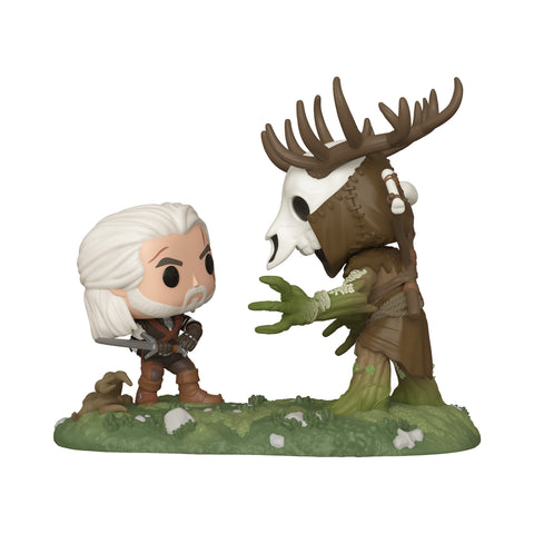 Funko Pop! Games - The Witcher: Wild Hunt #555 - Geralt vs. Leshen (Exclusive) - Simply Toys