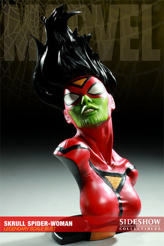 Sideshow Collectibles Legendary Scale Bust - Skrull Spider-Woman (SDCC) - Simply Toys
