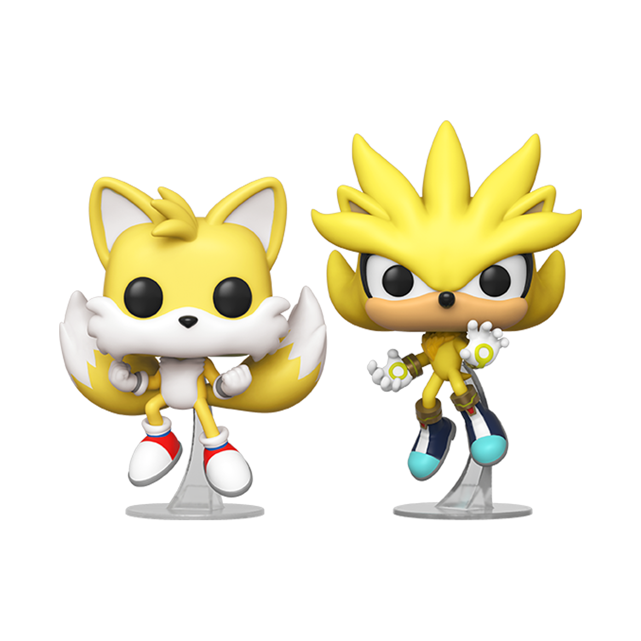 Funko Pop! Games – Sonic the Hedgehog – Super Tails & Super Silver (2 Pack) (Summer Convention 2020 Exclusive)
