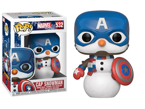 Funko Pop! MARVEL - MARVEL #532 - Captain America (Snowman) - Simply Toys