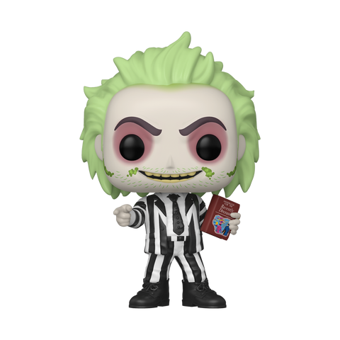 Funko Pop! Movies - Beetlejuice #1010 - Beetlejuice With Handbook of Recently Deceased (Glow In The Dark) (Fall Convention 2020 Exclusive)