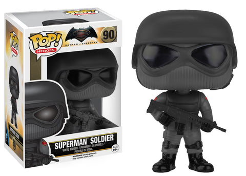 Funko Pop! DC - Batman vs Superman #90 - Superman Soldier - Simply Toys