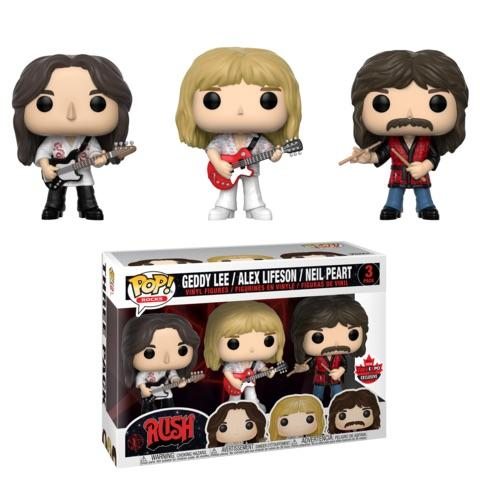 Funko Pop! Rocks - Rush - Geddy Lee, Alex Lifeson & Neil Peart (3 Pack) (Exclusive) - Simply Toys