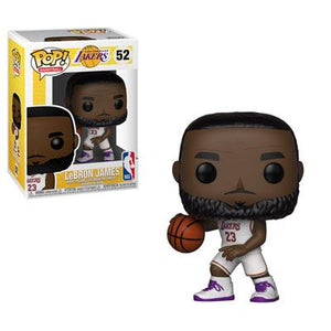 Funko Pop! Sports - NBA: Los Angeles Lakers #52 - LeBron James (White Jersey) - Simply Toys