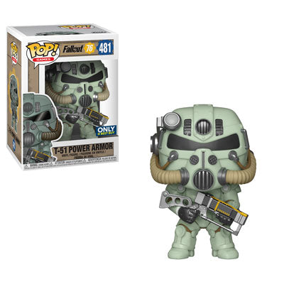 Funko Pop! Games - Fallout #481 - T-51 Power Armor (Green) (Exclusive) - Simply Toys