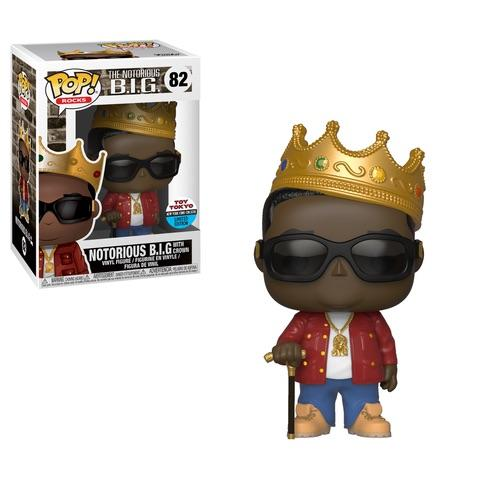 Funko Pop! Rocks - The Notorious B.I.G. #82 - Notorious B.I.G. with Crown (Red Jacket) (Fall Convention Exclusive) - Simply Toys