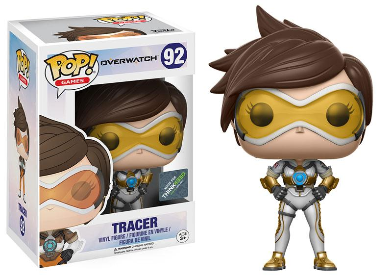 Funko Pop! Games - Overwatch #92 - Tracer (Posh) (Exclusive) - Simply Toys