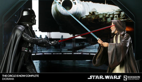 Sideshow Collectibles Star Wars Circle is ‎Complete‎ Statue - Obi‎-‎Wan VS Darth Vader - Simply Toys