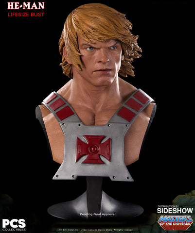 Pop Culture Shock Masters Of The Universe Life Size Bust - He-Man - Simply Toys