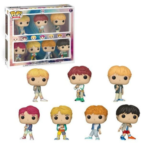 Funko Pop! Rocks - BTS - V, Suga, Jin, Jung Kook, RM, Jimin, and J-Hope (7 pack Special Edition) (Exclusive) - Simply Toys