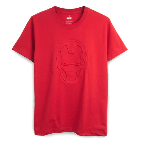 MARVEL - Iron Man Embossed T-Shirt - Simply Toys