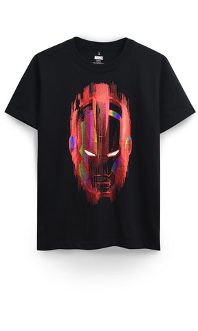 MARVEL - Iron Man Mask Glow T-Shirt - Simply Toys