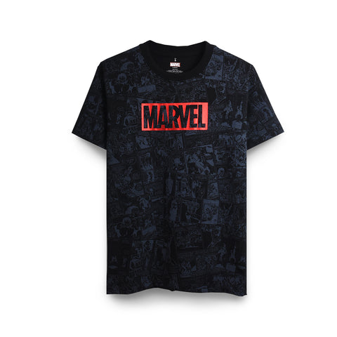 MARVEL - Comic Allover T-Shirt - Simply Toys