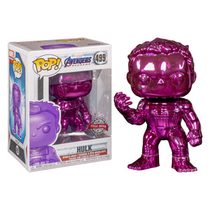 Funko Pop! MARVEL - Avengers: Infinity War #499 - Hulk (Glove) (Purple Chrome) (Exclusive) - Simply Toys