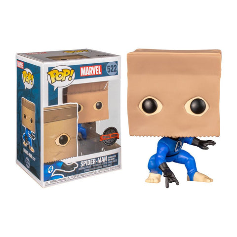 Funko Pop! MARVEL - MARVEL #522 - Spider-Man (Bombastic Bag Man) (Exclusive) - Simply Toys