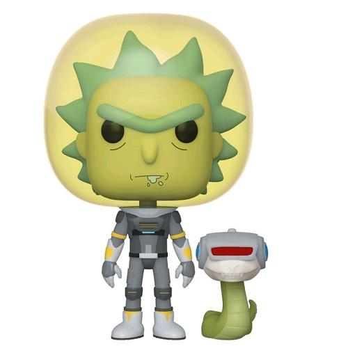 Funko Pop! Animation - Rick and Morty #689 – Rick (Space Suit) (Snake) - Simply Toys
