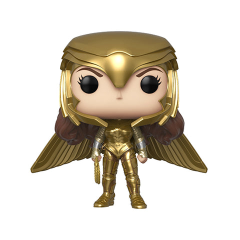 Funko Pop! DC - Wonder Woman 1984 #330 - Wonder Woman Gold Wide Wing (No Helmet) (Metallic) (Exclusive)