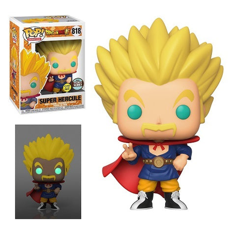 Funko Pop! Animation - Dragon Ball Super #818 - Super Saiyan Hercule (Glow In The Dark) (Funko Specialty)
