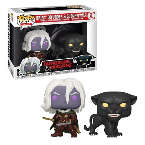 Funko Pop! Games - Dungeons & Dragons - Drizzt Do'Urden & Guenhwyvar (2-Pack) (Exclusive)