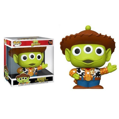 Funko Pop! Disney - Pixar Alien Remix #756 - Woody (10 Inch)