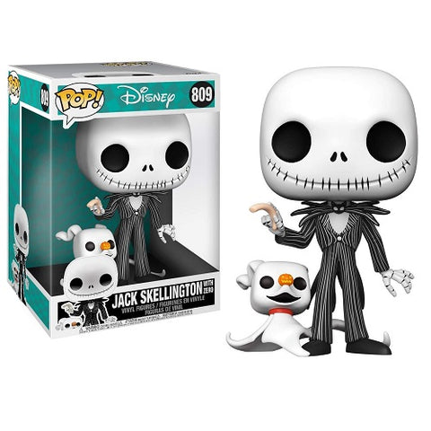 Funko Pop! Disney - Nightmare Before Christmas #809 - Jack With Zero (10 Inch) (Glow In The Dark) (Exclusive)
