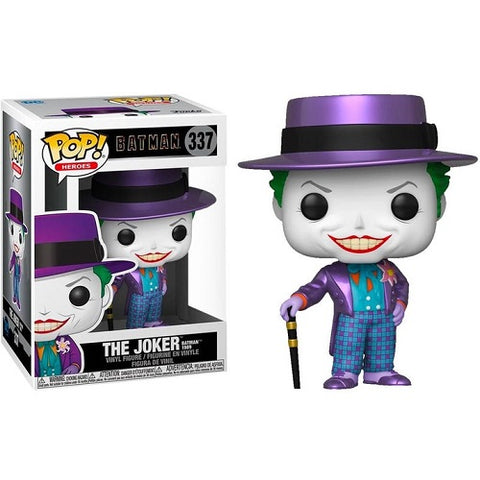 Funko Pop! Heroes – Batman 1989 #337 – Joker With Hat (Metallic) (Exclusive)