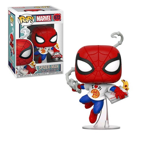 Funko Pop! Marvel – Spider-Man #672 – Peter Parker With Pi Shirt (Exclusive)