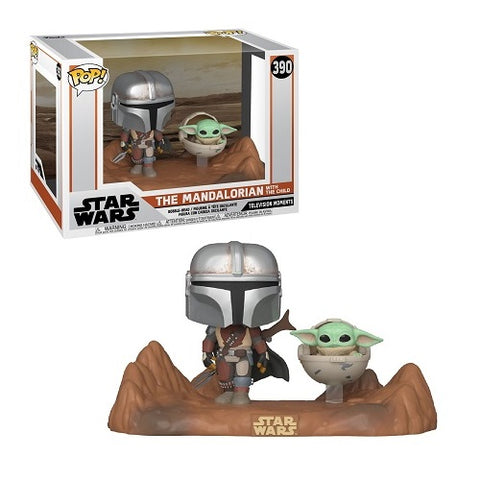 Funko Pop! Moment - Mandalorian #390 - Mandalorian & Child