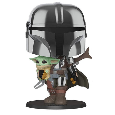 Funko POP! - Star Wars #380 - Mandalorian - Mandalorian (10 Inch) (Chrome)